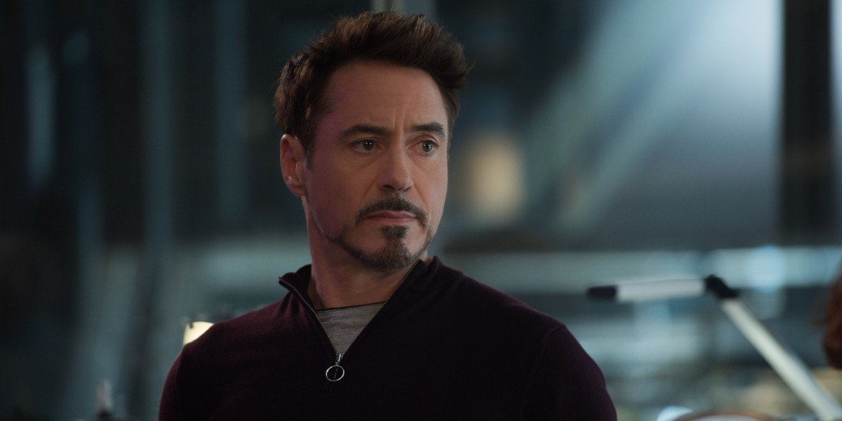 Tony Stark thinking about his plans to take down Ultron in Avengers: Age of Ultron