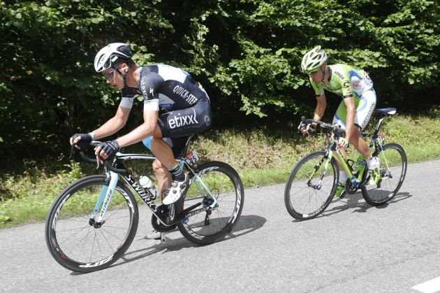 Tony Martin escapes on stage nine of the 2014 Tour de France