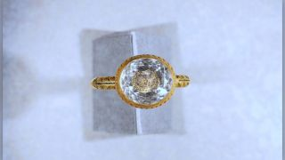 This gold ring, discovered by metal detectorist Lee Morgan, likely dates to the English Civil War.