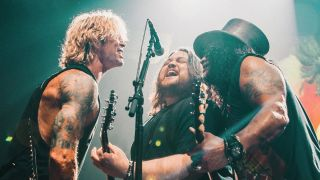 Duff McKagan, Wolfgang Van Halen and Slash
