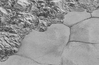 Pluto's Sputnik Planum shoreline