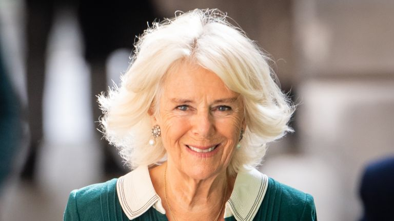 Camilla, Duchess of Cornwall visits Maggie's Barts at St Bartholomew's Hospital on October 07, 2020 in London, England