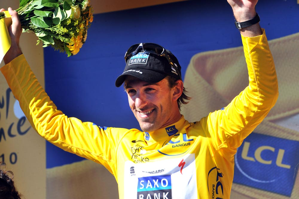 Fabian Cancellara leads overall Tour de France 2010 stage one