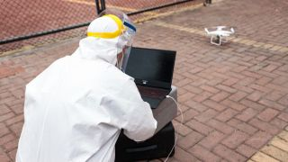 Drones used to combat the coronavirus in China