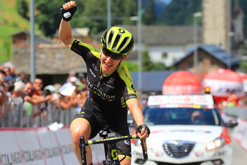 Amanda Spratt wins Giro Rosa stage six. Image: Giro Rosa