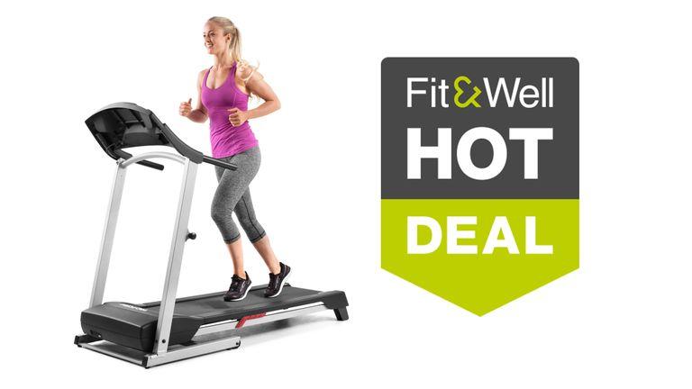 Woman running on Proform treadmill