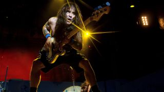 A picture of Iron Maiden bassist Steve Harris