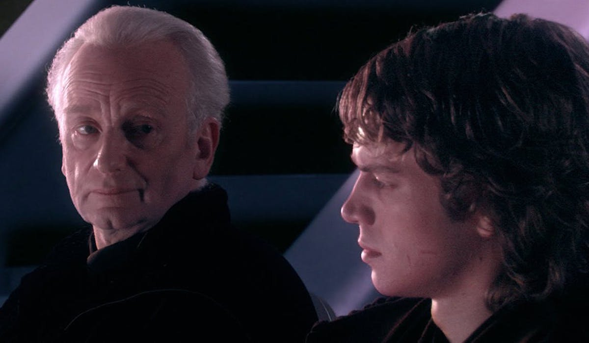 Palpatine and Anakin Skywalker in Revenge of the Sith