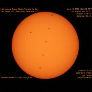 Space Station Crosses Sun's Face, June 2016