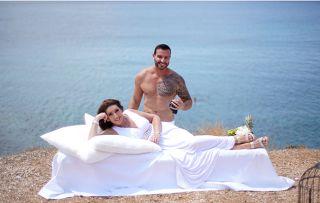 Jane McDonald and Greek Model Akis. (Music video) Greece