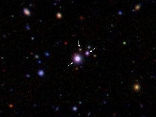 Black Hole Triplets Spotted
