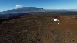 HI-SEAS mission's dome by drone