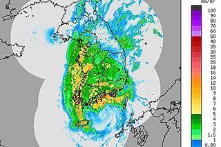 Typhoon Sanba, flooding, rain