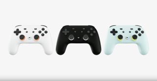Google Stadia Controller in three colours