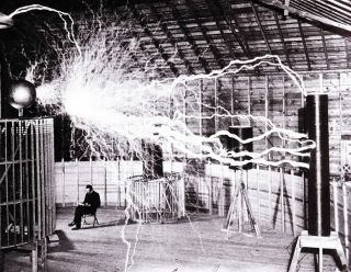 Nikola Tesla in Colorado Springs Laboratory