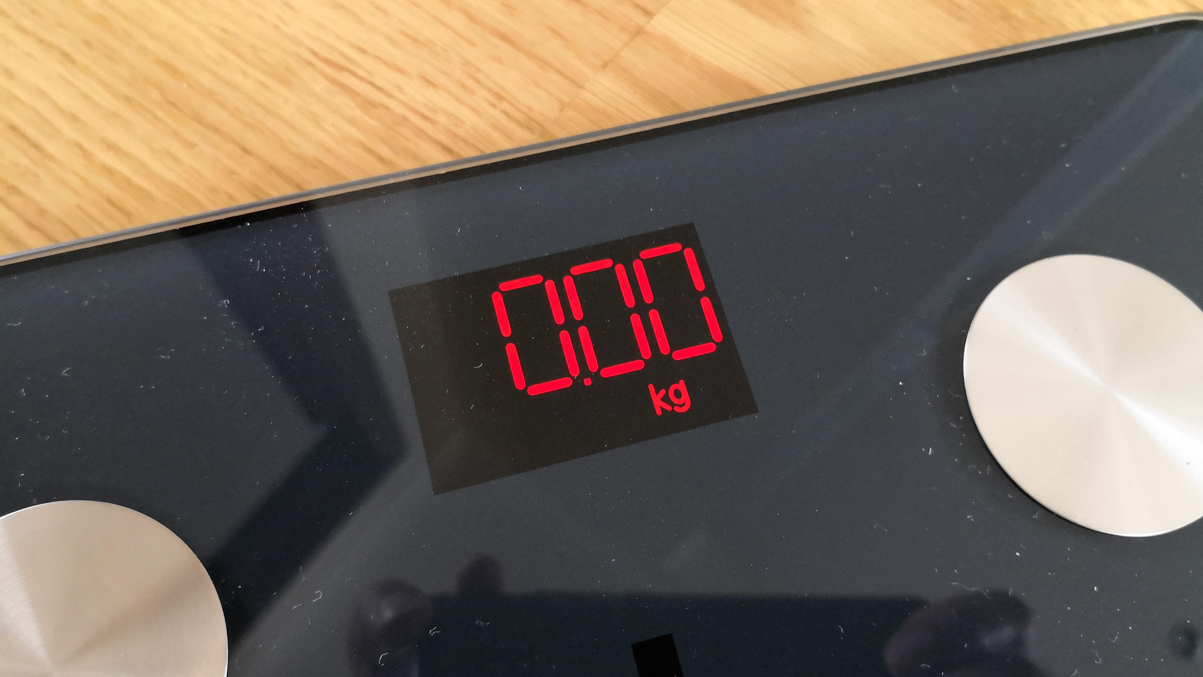 Renpho Smart Body Fat Scale display