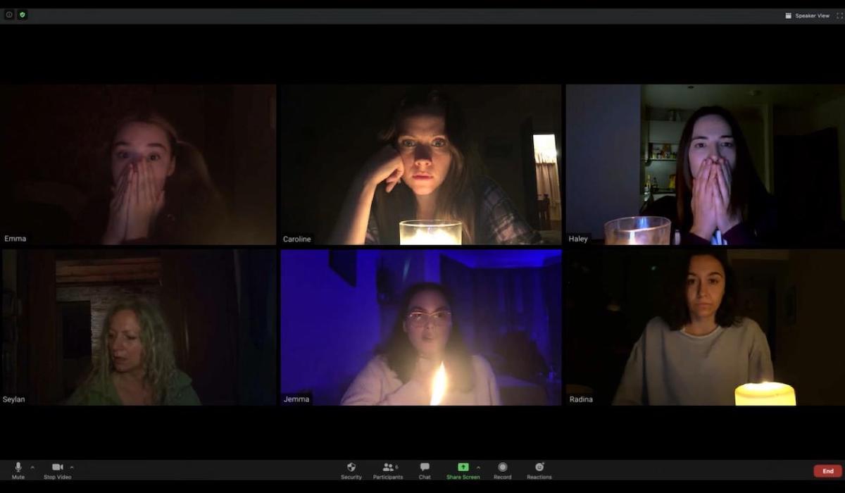 Caroline Ward, Haley Bishop, Seylan Baxter, Jemma Moore, Radina Drandova, and Emma Louise Webb in Host (2020)