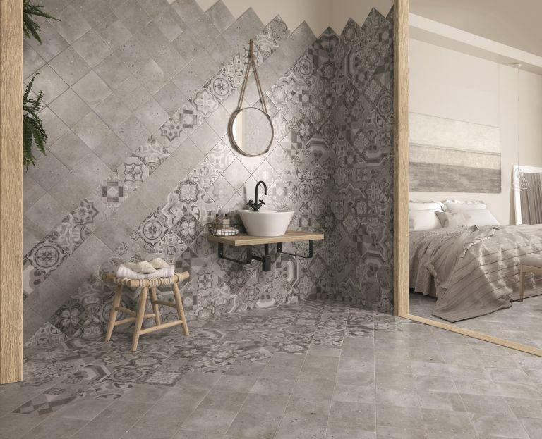 en suite bathroom Kardorma Abi Decor Grey