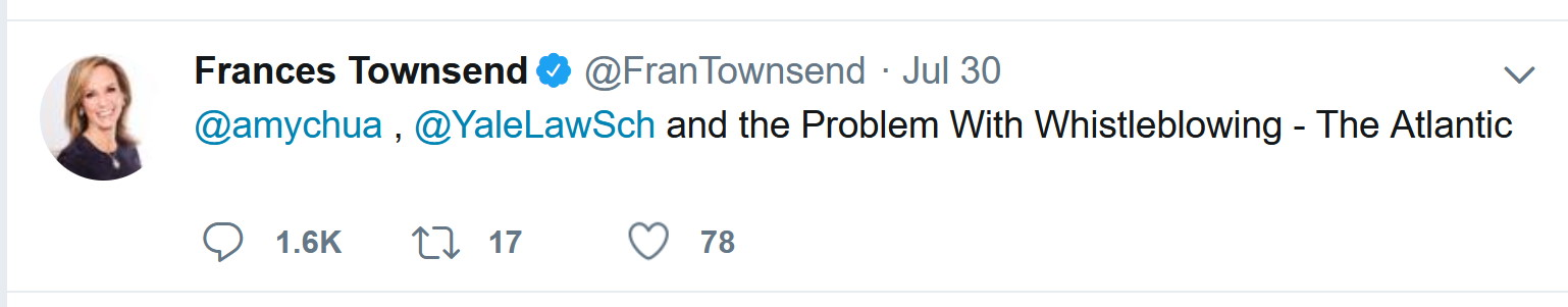 Frances Townsend gets ratioed