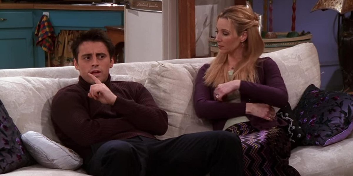 Matt LeBlanc and Lisa Kudrow on Friends