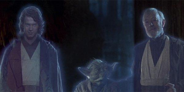 Force Ghosts Anakin, Yoda and Obi-Wan