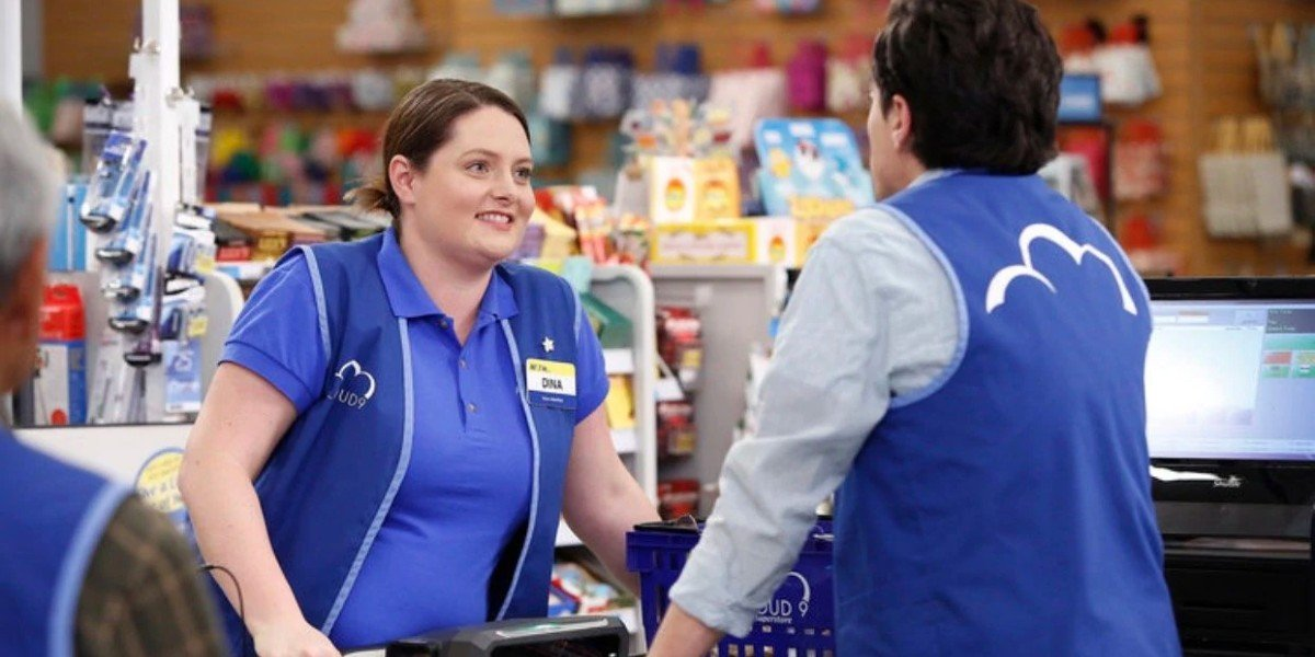 Lauren Ash and Ben Feldman in Superstore