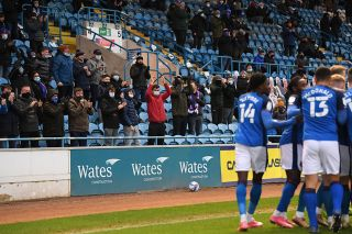 Fans at Carlisle on Boxing Day