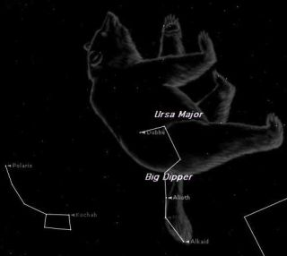 Find the Big Dipper in the Big Bear