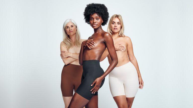 Three models wearing Heist shapewear