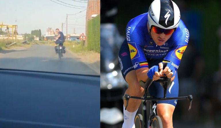 Yves Lampaert rides home after TT win
