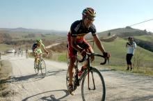Philippe Gilbert (BMC Racing Team) on the dirt roads