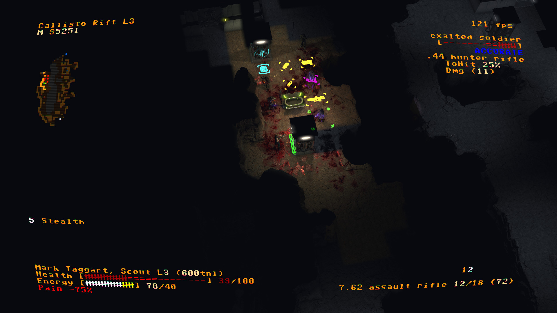 An image from roguelike turn-based tactical shooter Jupiter Hell.