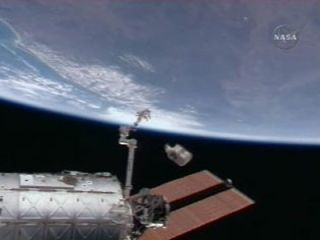 Space Station Trash Plunging to Earth