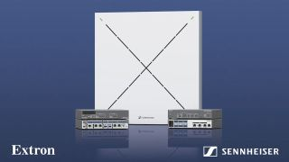 Sennheiser and Extron have partnered on a conferencing solution that natively integrates the TeamConnect Ceiling 2 microphone with Extron's DMP Plus series audio DSP processors.
