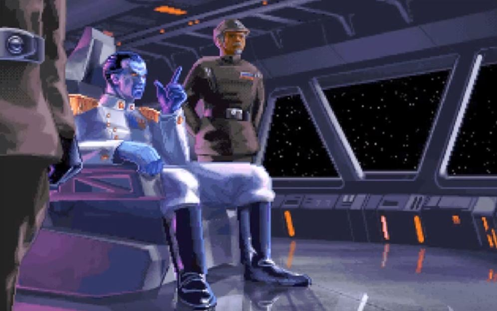 Grand Admiral Thrawn appeared in TIE Fighter and, more recently, in the animated series Rebels.