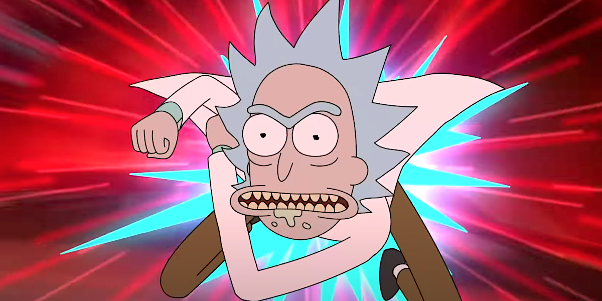 rick and morty rick punching