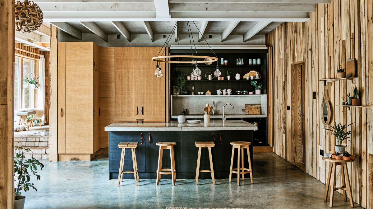 Lighting designer Tom Raffield's home is a masterclass in timber construction