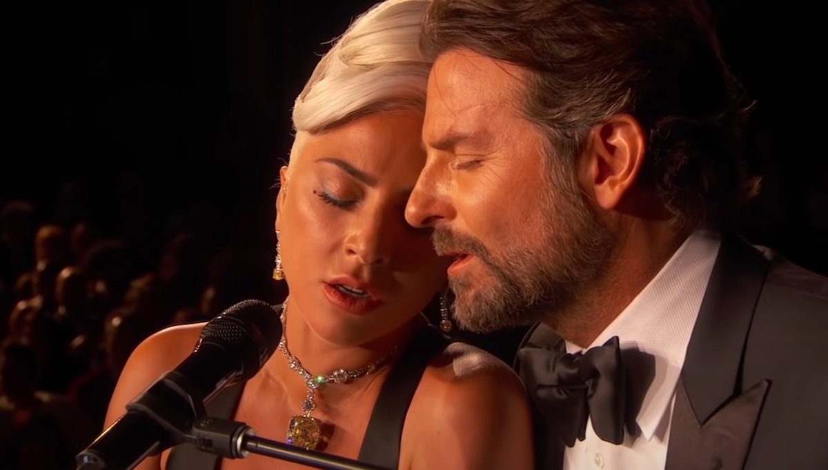 Lady Gaga and Bradley Cooper at the 2019 Oscars Shallow