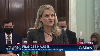 Frances Haugen of Facebook testifies before Senate subcommittee