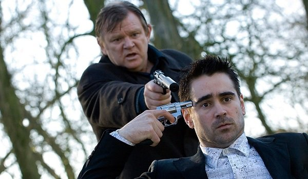 In Bruges Brendan Gleeson Colin Farrell both trying to shoot Colin Farrell