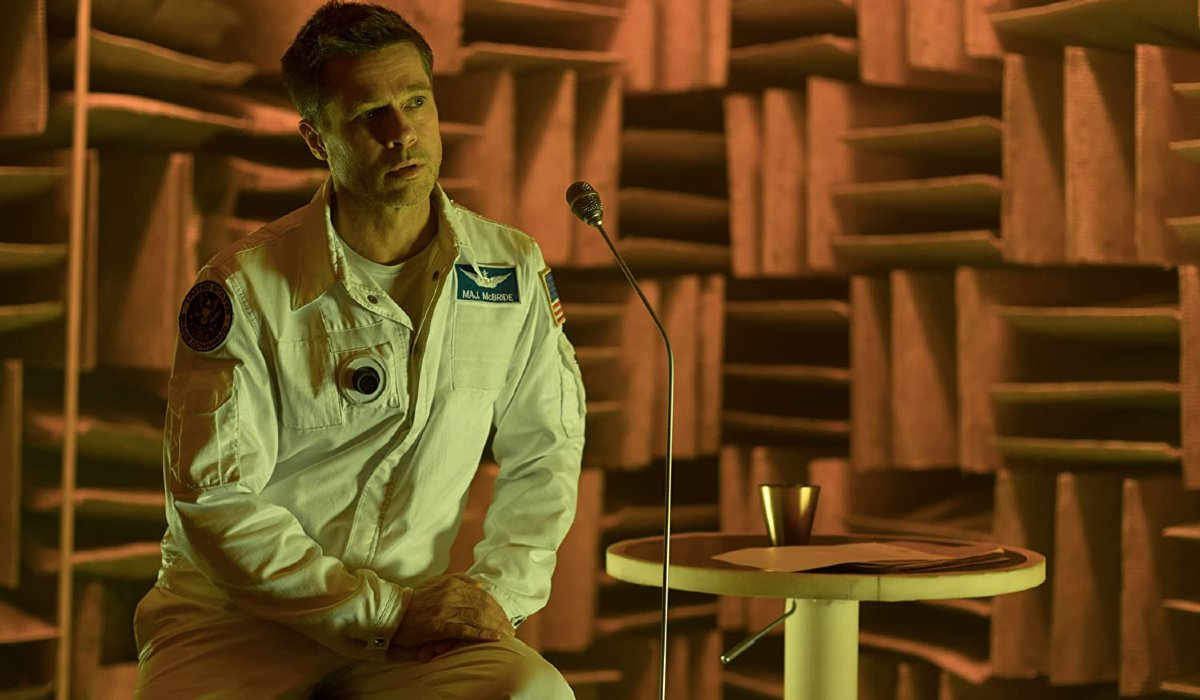 Ad Astra Brad Pitt recording a message to his father