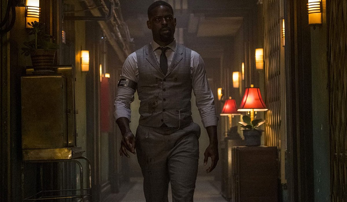 Hotel Artemis Sterling K. Brown making his way down a hallway