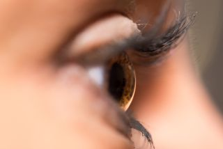 Close-up of a woman's eye.