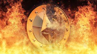 Burning Ethereum coin