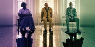 Samuel L. Jackson, James McAvoy and Bruce Willis in Glass