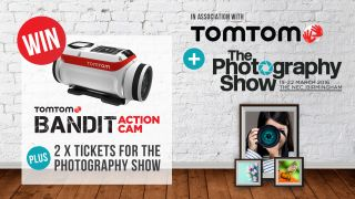 WIN One of two Tom Tom Bandit action cams and Photography Show tickets