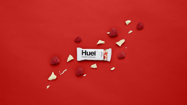 Huel vegan protein snack bar white chocolate raspberries