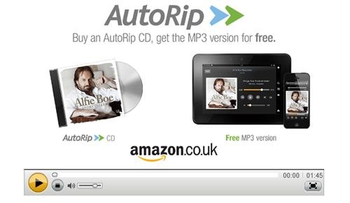 Amazon AutoRip launches in the UK offering free Cloud Player MP3s