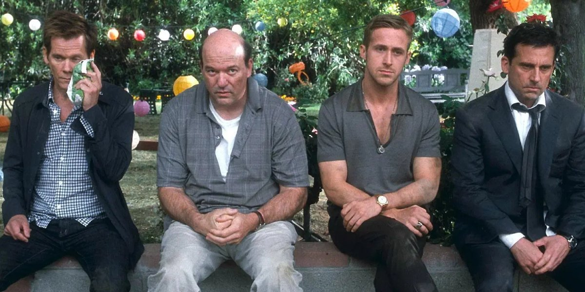 Kevin Bacon, John Carroll Lynch, Ryan Gosling, and Steve Carell in Crazy Stupid Love