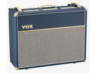 The Vox-AC30C2-BL (pictured) and its smaller sibling the AC15C1-BL boast a richly evocative vintage finish.